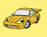 Coloring page Sports car with aileron painted byLornaAnia