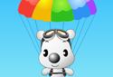 Puppy in parachute