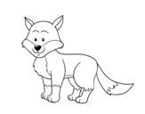 A fox coloring page