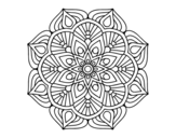 A mandala oriental flower	 coloring page