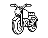 A moped coloring page