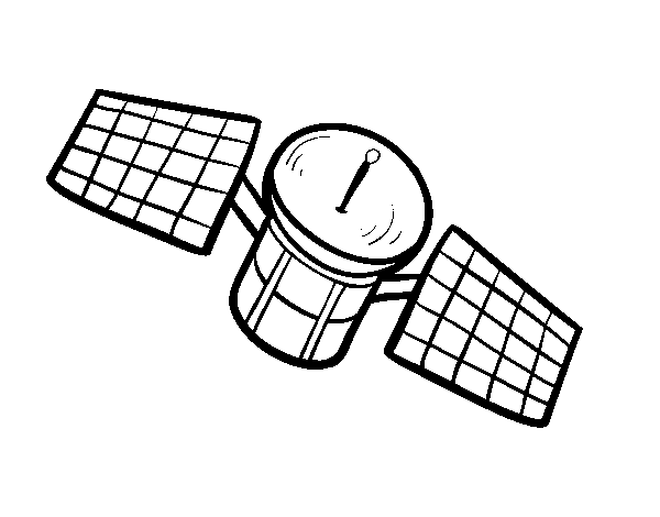 A satelite coloring page