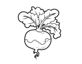 A turnip coloring page