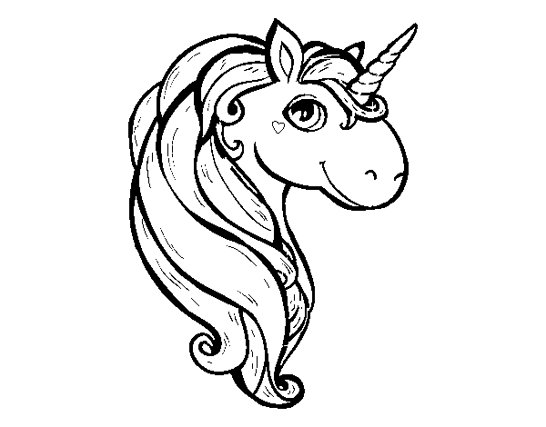 A unicorn coloring page