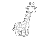 An African giraffe coloring page