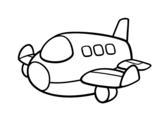 An airbus coloring page