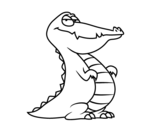 An alligator coloring page