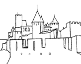 Ancient castle coloring page