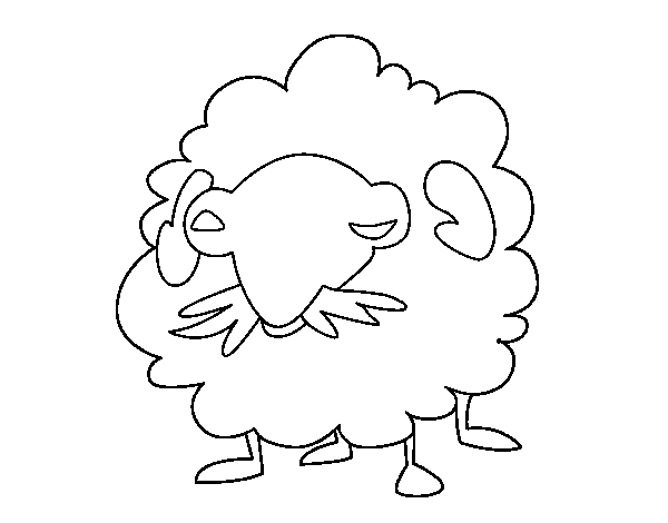 Angora goat coloring page