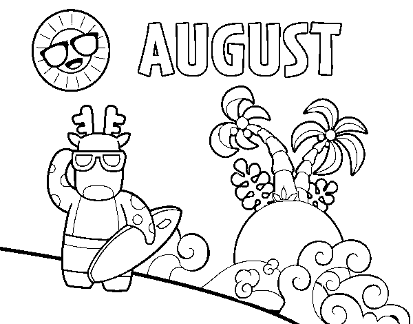 August coloring page