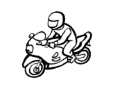 Biker coloring page