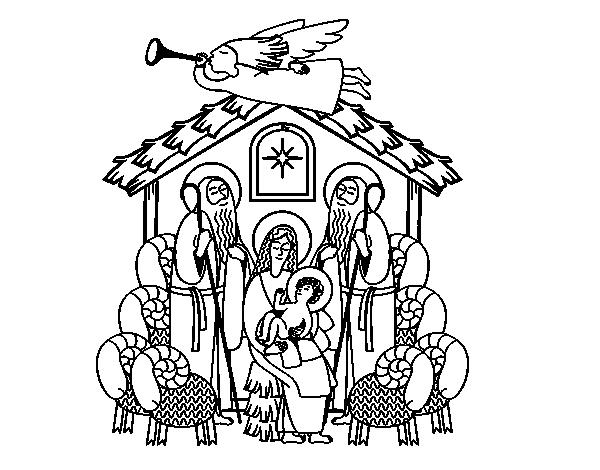 Birth of Jesus coloring page - Coloringcrew.com