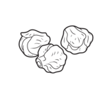 Brussels sprouts coloring page