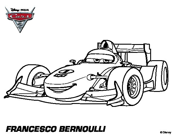 Cars 2 Coloring Pages Francesco Coloring Pages