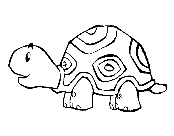Cheerful turtle coloring page