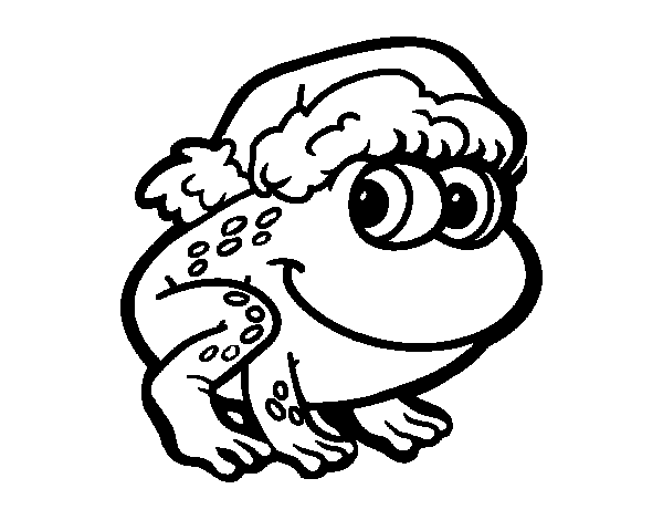 Christmas Frog coloring page