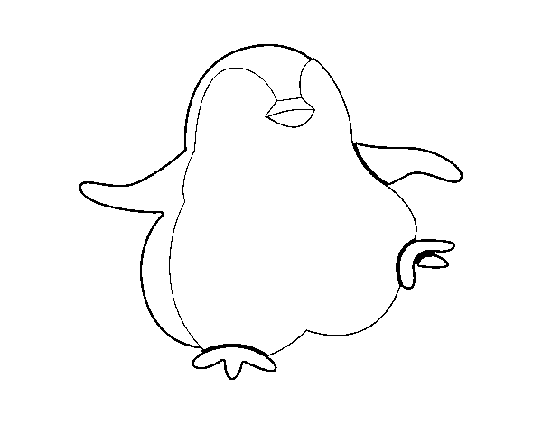 Dancing penguin coloring page