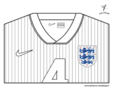 England World Cup 2014 t-shirt coloring page