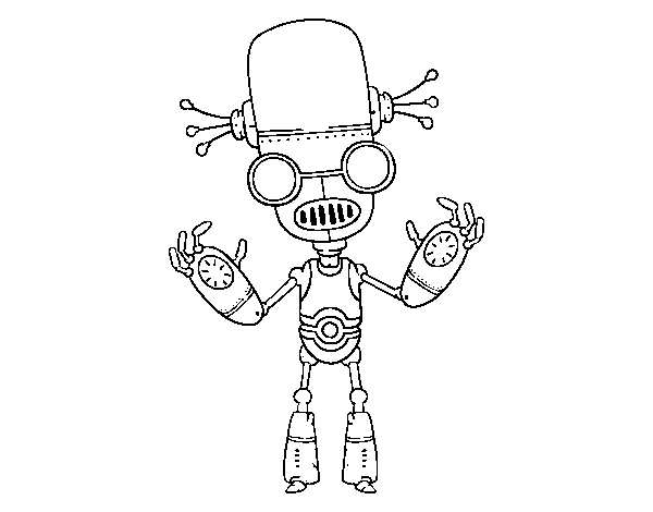 Evil Robot coloring page
