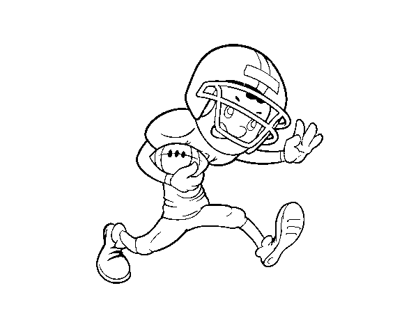 Forward rugby coloring page