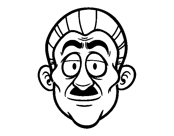 Grandpa's face coloring page