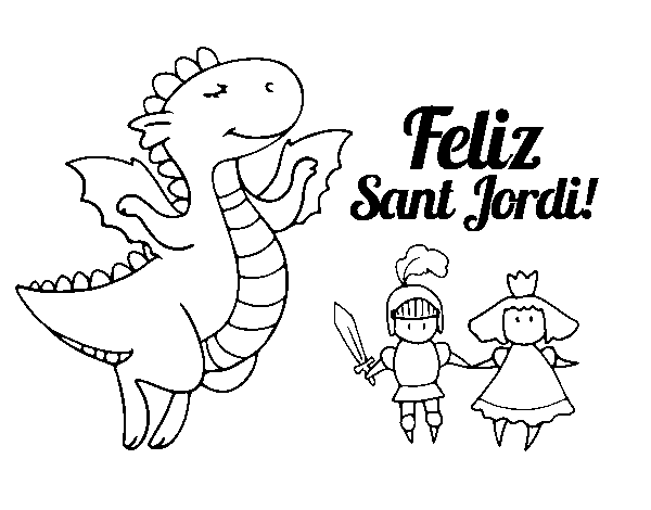 Happy Saint George's Day coloring page