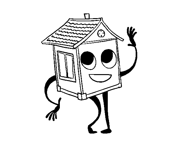 House saluting coloring page