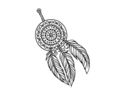 Indian dreamcatcher coloring page