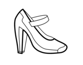 Lounge shoe coloring page