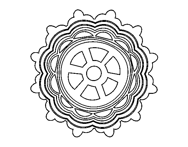 Mandala shaped rudder coloring page