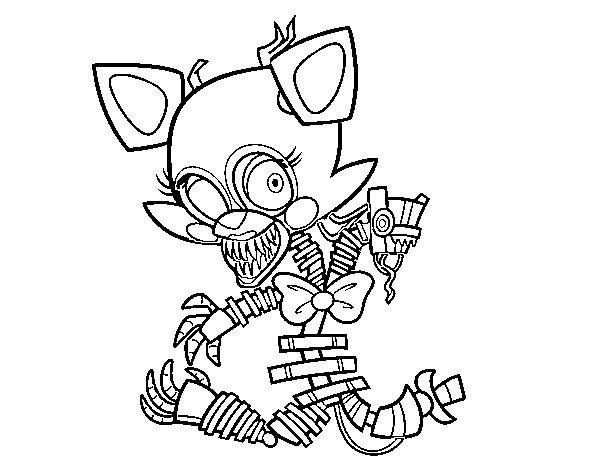 Mangle from Five Nights at Freddy's coloring page