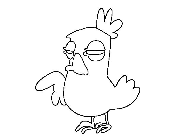 Moody cock coloring page