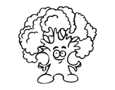Mr. broccoli coloring page