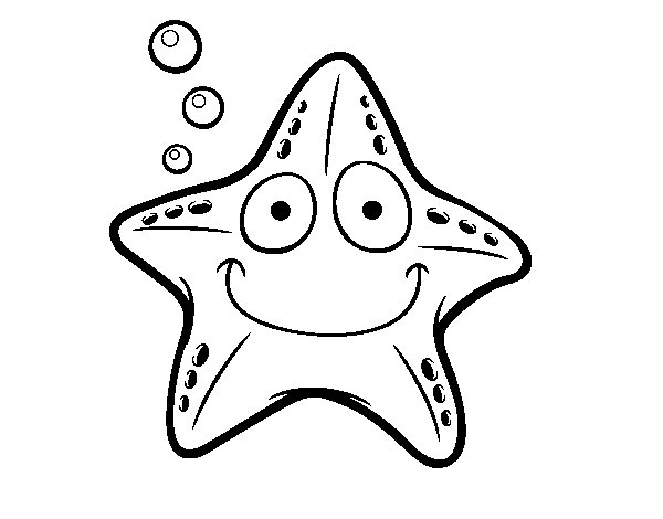 Nautical star coloring page