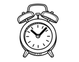 Old alarm clock coloring page