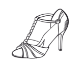 Party shoe coloring page