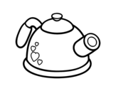 Pressure teapot coloring page