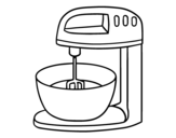 Robot pastry coloring page