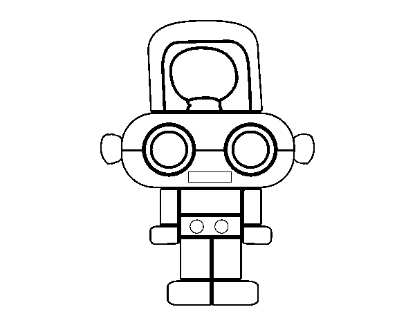 Robot with light coloring page