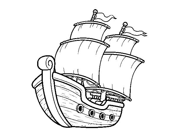 Sailing ship coloring page - Coloringcrew.com