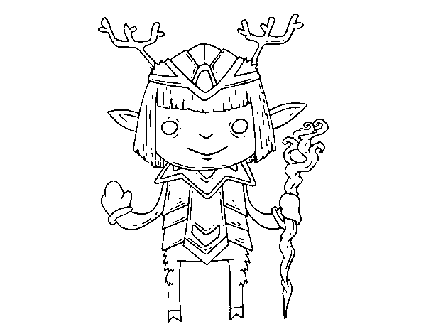 Satyr coloring page