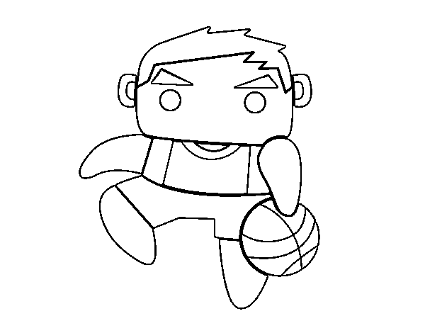 Shooting guard coloring page