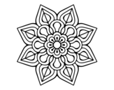 Dibujo de Simple flower mandala