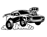 Sport muscle car coloring page