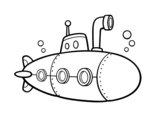 Spy submarine coloring page