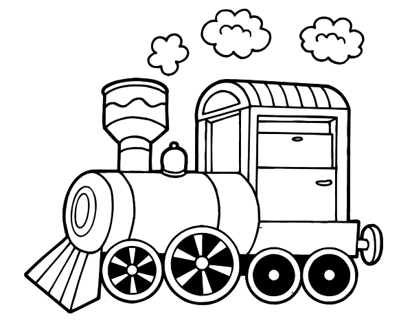 Steam locomotive coloring page - Coloringcrew.com