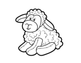 Stuffed sheep coloring page