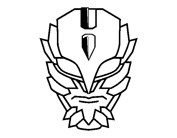 Super Villain Mask Coloring Page