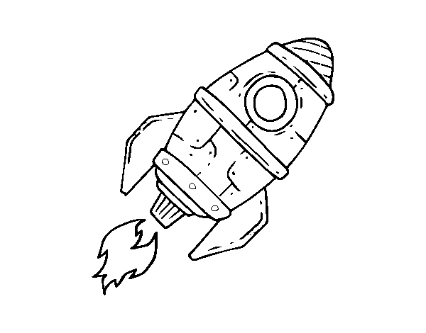 Supersonic rocket coloring page