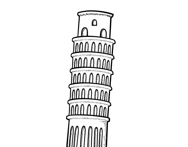 The Tower of Pisa coloring page - Coloringcrew.com